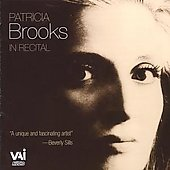 Patricia Brooks in Recital - Bach, Mahler, Puccini, etc. / Wingreen, Lucarelli