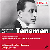 Tansman: Symphonies Vol 3 / Caetani, Melbourne SO