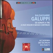 Galuppi: Six Sonatas for Two Violins and Continuo / Abramo Raule, Alessandro Peiretti, Rita Peiretti