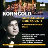 Korngold: Much Ado About Nothing, Op. 11, complete incidental music / Univ. of NC School of the Arts Drama Soloists