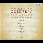Bach: Goldberg Variations / Belder, harpsichord; Sheng, piano; Barshai, organ; Amati String Trio