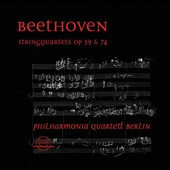 Beethoven: String Quartets, Opp. 59/1-3 & 74 / Philharmonia Quartett Berlin