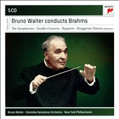 Bruno Walter Conducts Brahms: Symphonies nos 1-4; Overtures; 'Double' Concerto; German Requiem; Alto Rhapsody et al. / Mildred Miller, alto [5 CD]