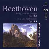 Beethoven: String Quartets Op 18 no 1 & 4 / Leipzig Quartet