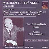 Furtw&#228;ngler Conducts Mozart / P. Badura-Skoda, Vienna PO