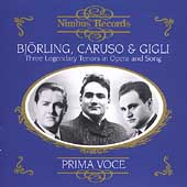Prima Voce - Bj&ouml;rling, Caruso, Gigli