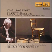 Mozart: Symphony no 32 & 1;  Sibelius / Tennstedt