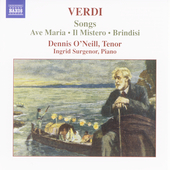 Verdi: Songs / Dennis O'Neill, Ingrid Surgenor