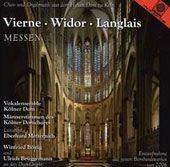 Organ Masses by Vierne, Widor, Langlais, Hakim / Winifred Bonig and Ulrich Bruggemann, organists
