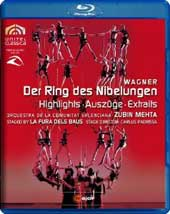 Wagner: Der Ring des Nibelungen - Highlights / Zubin Mehta [Blu-Ray]