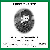 Mozart: Piano Concerto no 25;  Brahms / Kempe, et al