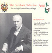 Beecham Collection - Beethoven: Missa Solemnis / Baillie, etc