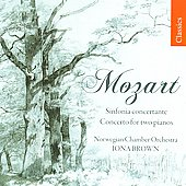Mozart: Sinfonia Concertante, Concerto / Iona Brown, et al