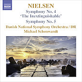 Nielsen: Symphony no 4 & 5 / Michael Schonwandt, Danish NSO
