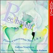 Beethoven: Piano Concertos no 3 & 4 / Vracheva, Kofman