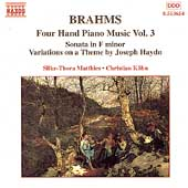 Brahms: Four-Hand Piano Music Vol 3 / Matthies, Köhn
