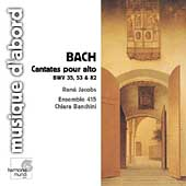 Bach: Cantatas pour Alto / Jacobs, Banchini, Ensemble 415