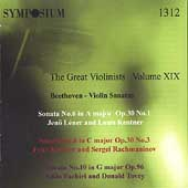 The Great Violinists Vol 19 - Beethoven: Violin Sonatas