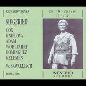 Wagner: Siegfried / Sawallisch, Adam, Cox, Kniplova, et al