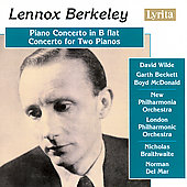 Berkeley: Piano Concerto in B flat, Concerto for Two Pianos