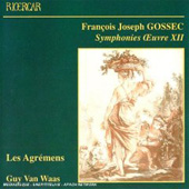 Gossec: Symphonies Op 12, Stamitz / Van Waas, Les Agr&eacute;mens
