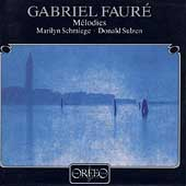Faur&#233;: M&#233;lodies / Marilyn Schmiege, Donald Sulzen