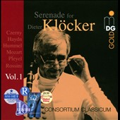 Serenade for Dieter Klöcker - Chamber music and concertos for winds by Rossini, Hummel, Pleyel, Czerny, Haydn, Mozart / Consortium Classicum