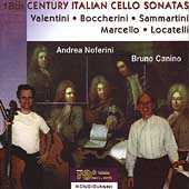 18th Century Italian Cello Sonatas / Noferini, Canino