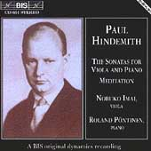 Hindemith: Sonatas for Viola and Piano, Meditation / Imai