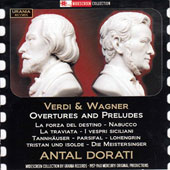Verdi & Wagner: Overtures & Preludes / Antal Dorati, London SO