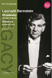 Stravinsky: Rite of Spring; Sibelius: Symphony No. 5 / Leonard Bernstein, London SO (live, 11/1966) Includes Bernstein Interview [DVD]