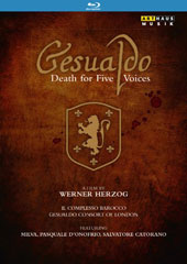 Gesualdo - Death for Five Voices, a documentary film on the life of Don Carlo Gesualdo by Werner Herzog / Milva, Pasquale d'Onofrio, Salvatore Catorano (filmed on location in Italy) [Blu-ray]