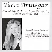 Terri Brinegar Live at North Texas State University