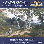 Mendelssohn: Complete String Symphonies Vol 2 / Boughton