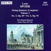 Spohr: String Quintets Vol 3 / New Haydn Quartet, Papp