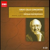 Great Cello Concertos - Bloch, Dvorak, Saint-Saens, Schumann, R. Strauss, Shostakovich / Mstislav Rstorpovich, cello [5 CDs]