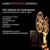 The Genius of Film Music, Hollywood blockbusters 1960-1980 including music from Cleopatra, The Godfather, Psycho, Lawrence of Arabia, Star Treck / London PO, Mauceri