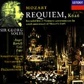 Mozart: Requiem / Solti, Aug&#233;r, Bartoli, Cole, Pape