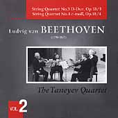 Beethoven: String Quartets no 3 & 4 / Taneyev String Quartet