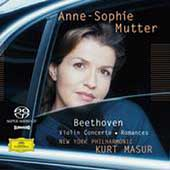 Beethoven: Violin Concerto, Romances / Mutter, Masur, NYPO