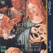 Bach: Motets / Fasolis, Coro Radio Svizzera, I Barocchisti