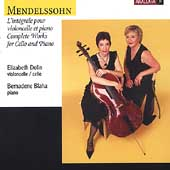 Mendelssohn: Complete Works for Cello and Piano / Dolin, etc