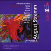 SCENE Hommage a August Stramm - Schleiermacher, Heisig, Rihm, Vogel, Babbitt, Barlow, etc