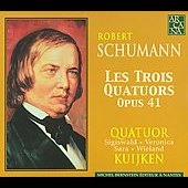 Schumann: Les Trois Quatuors Op 41 / Quatuor Kuijken