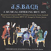 Bach: A Musical Offering BWV 1079 / Jackson, Concertante of London