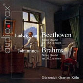 Beethoven: String Quartet Op. 18/5 A major; Brahms: String Quartet Op. 51/2 A minor / Gürzenich Quartet