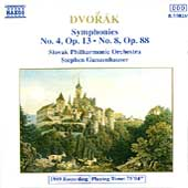 Dvorák: Symphonies no 4 and 8 / Gunzenhauser, Slovak PO