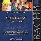 Edition Bachakademie Vol 37 - Cantatas BWV 115-117 / Rilling