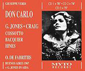 Verdi: Don Carlo / De Fabritiis, Jones, Craig, Cossotto, etc