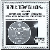 Various Artists: Earliest Negro Vocal Groups, Vol. 3